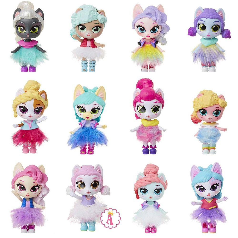 Все куклы кошки из коллекции игрушек Jakks Pacific Kitten Catfe Purrista Dolls