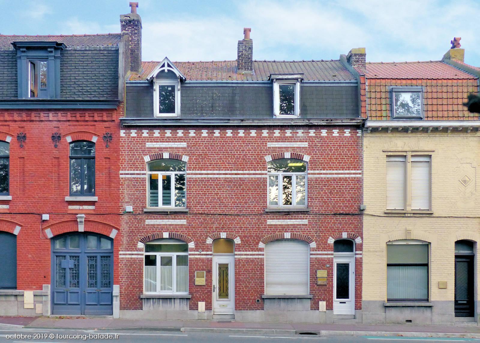 Maisons n°30 et 31, place de la Victoire, Tourcoing.