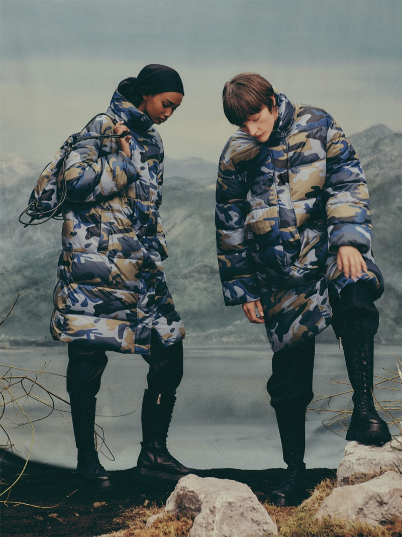 Camouflage prints - Zara Winter 2019 collection