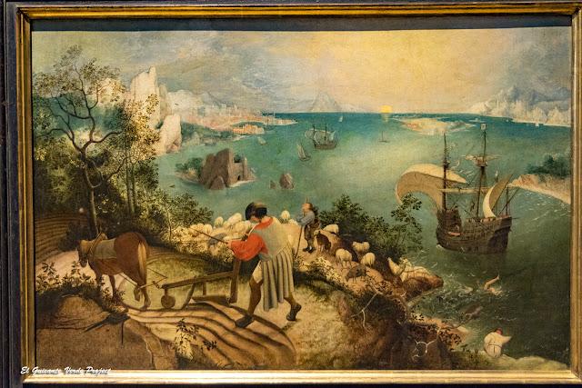 Pieter Bruegel, Paisaje con la Caída de Ícaro - Museos Reales de Bellas Artes, Bruselas por El Guisante Verde Project