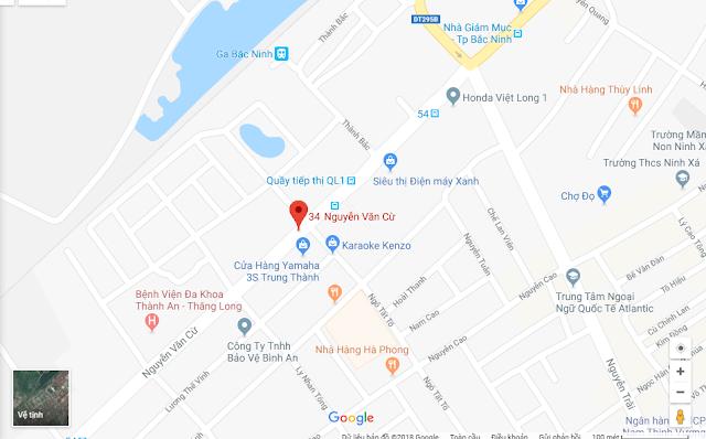 Vị trí New Melbourne Bắc Ninh