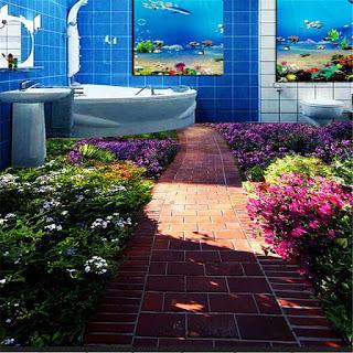 Lantai Tiga Dimensi Untuk Kamar Mandi