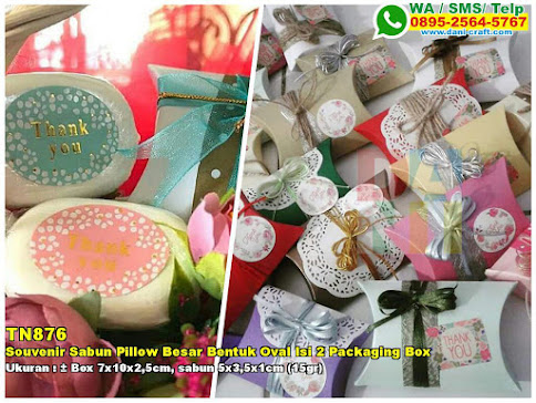 Souvenir Sabun Pillow Besar Bentuk Oval Isi 2 Packaging Box