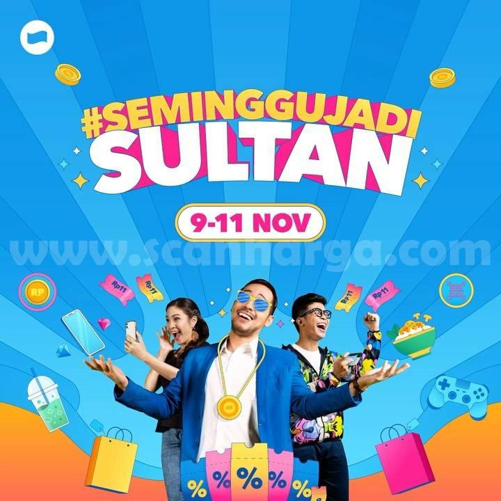 Promo DANA 11.11 Cuma Rp 11,- Seminggu Jadi Sultan
