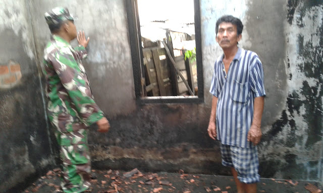 Rumah Pandai Besi di Kelurahan Babat Toman Diamuk si Jago Merah