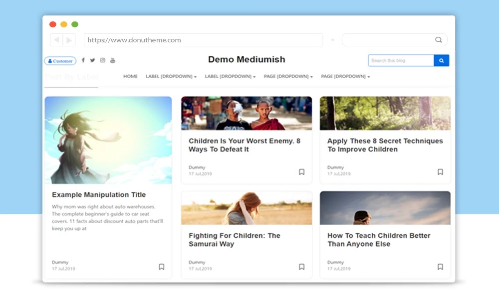 Mediumish Responsive Blogger Template