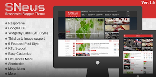 SNews - News/Magazine Responsive Blogger Theme Free Download