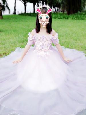 Pink Children Wedding Flower Girl Dress