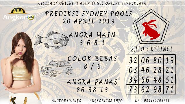 Prediksi Angka Jitu SYDNEY POOLS 20 APRIL 2019