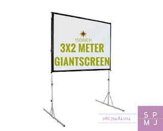 Sewa Layar Lebar / Giant Screen 3x2 Meter | Rental / Persewaan / Penyewaan Lcd Projector Infocus Sewa Proyektor Murah Yogyakarta