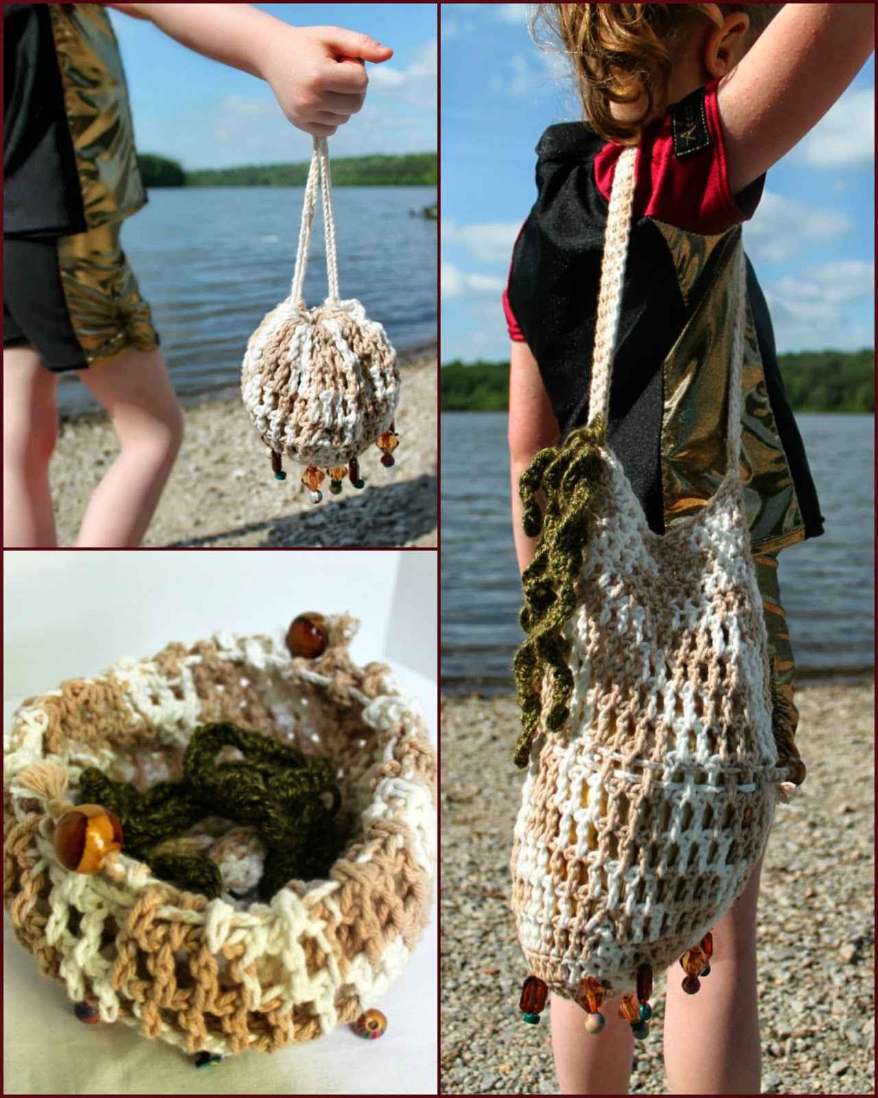 Harry Potter Triwizard Swimwear and Beaded Beach Bag | The Inspired Wren for CraftingCon