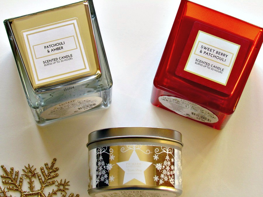 Budget Scented Candles for Christmas, Primark Home scented candles, Yankee Candles, The Style Guide Blog