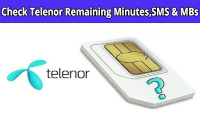 How to Check Telenor Remaining MBS,Mins and SMS Code - how to check remaining mbs in telenor free