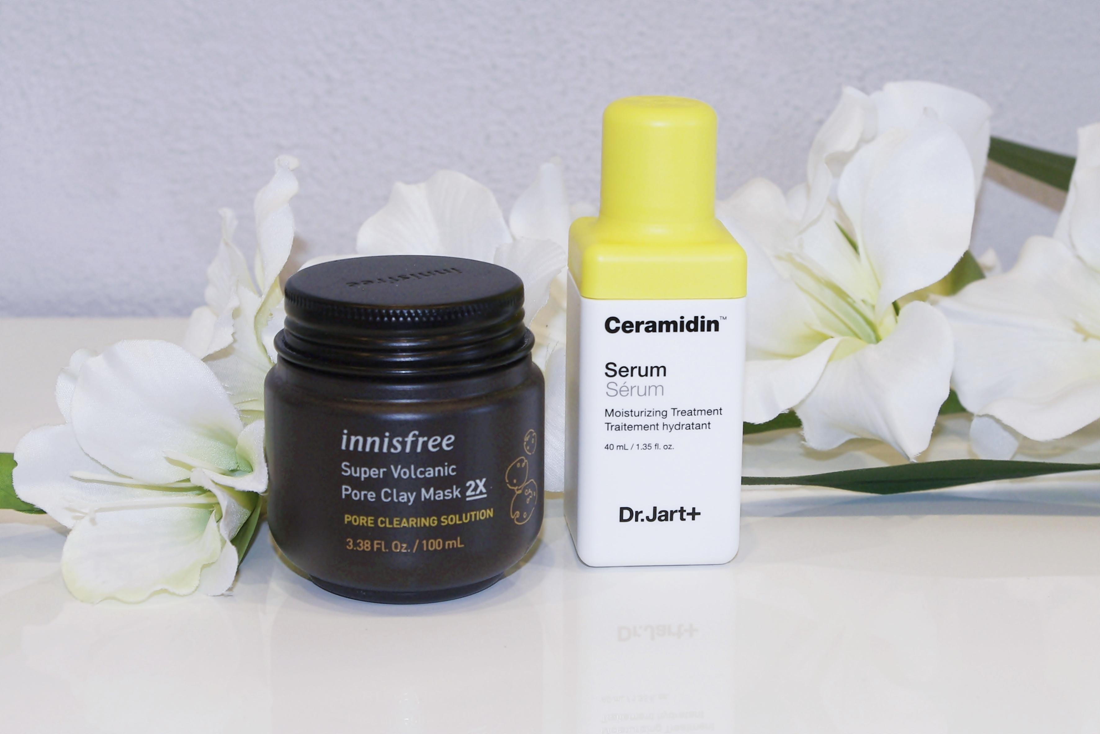 Dr. Jart+ Ceramidin Serum Innisfree Super Volcanic Pore Clay Mask 2X