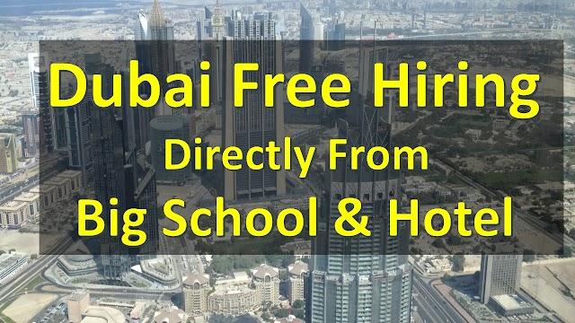 Teaching Jobs In Dubai |Hotel Jobs In Dubai | Apply Online |