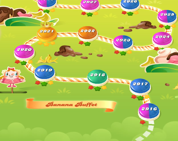 Candy Crush Saga level 2916-2930
