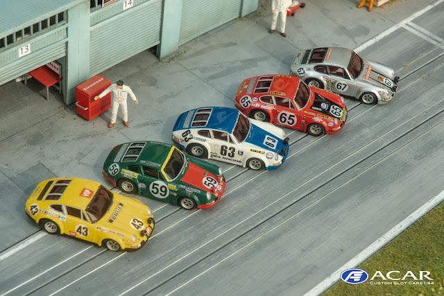 h0 Slot Cars Custom Posche 911 24h Le Mans 1970