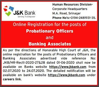 jkbank PO and Banking associate