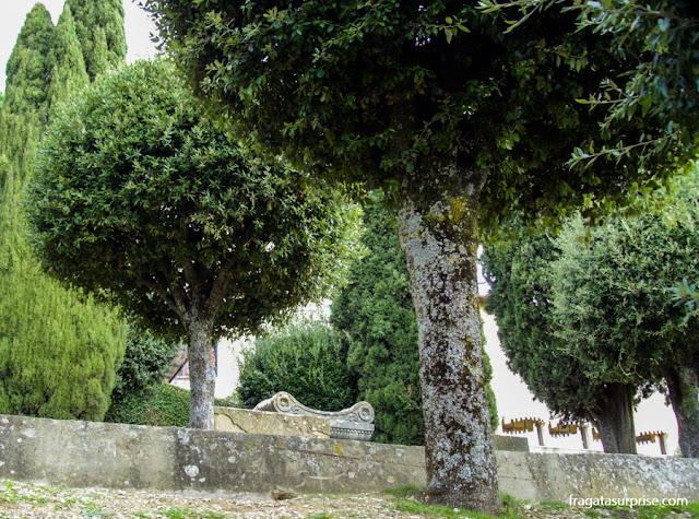jardim em Fiésole, Toscana