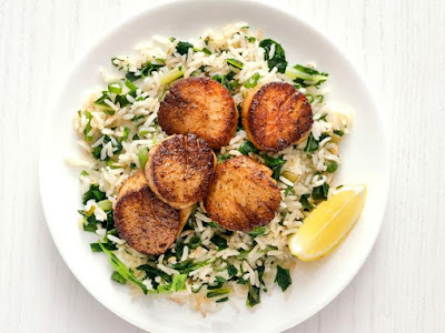 Cajun Scallops and Rice