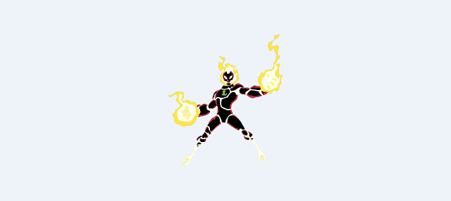 Ben 10 Alien - Heat blast wallpapers