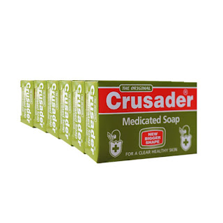 Crusader Medicated Soap 80g x 6 on White background