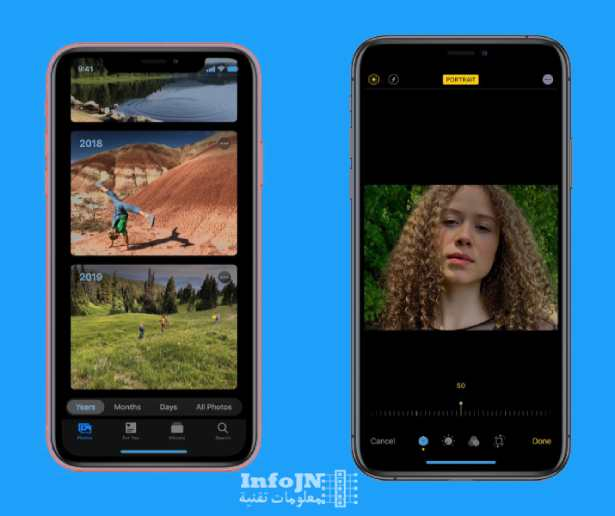 تعديل الصور والفيديوهات في نظام ios 13