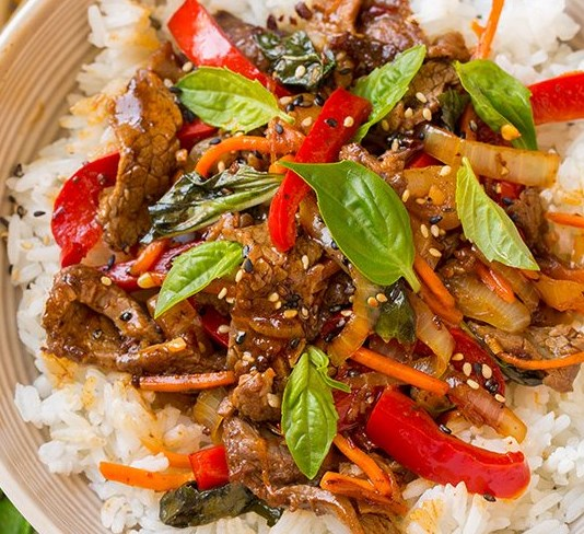 Thai Basil Beef Bowls #lunch #dinner