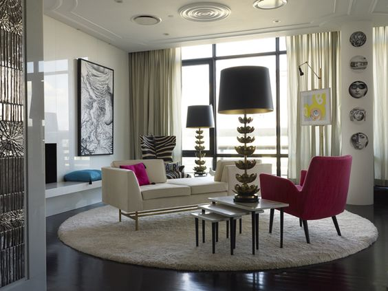 Colorful Hollywood Glam Interior Design