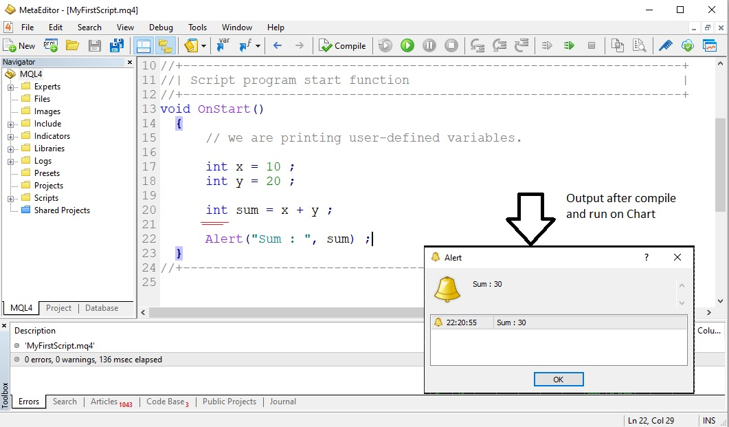 User Defined Variable in MQL
