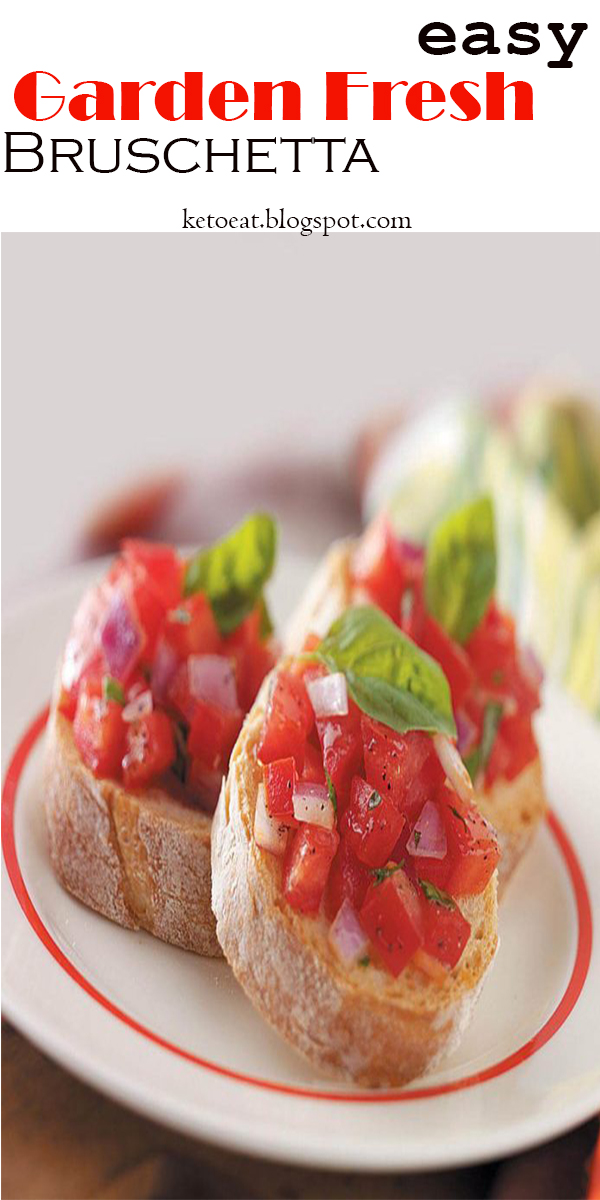 easy Garden Fresh Bruschetta #easy #Garden #Fresh #Bruschetta #easyGardenFreshBruschetta
