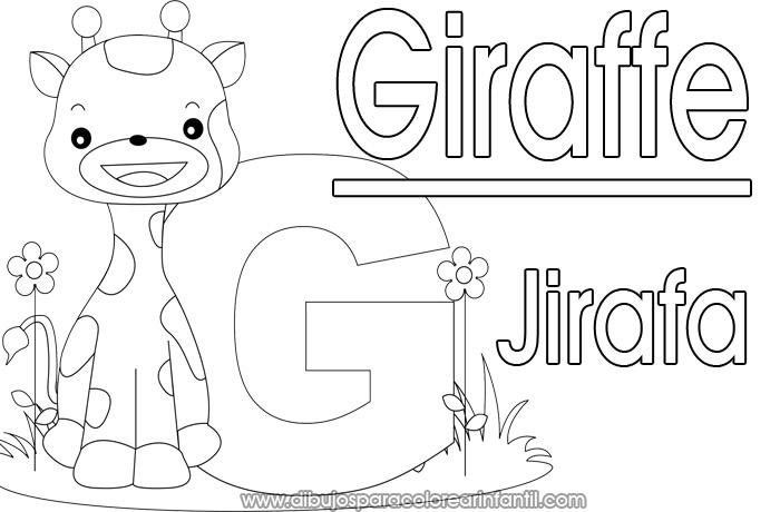 Dibujos De Jirafas Para Colorear E Imprimir: Alfabeto En Espanol Coloring Pages