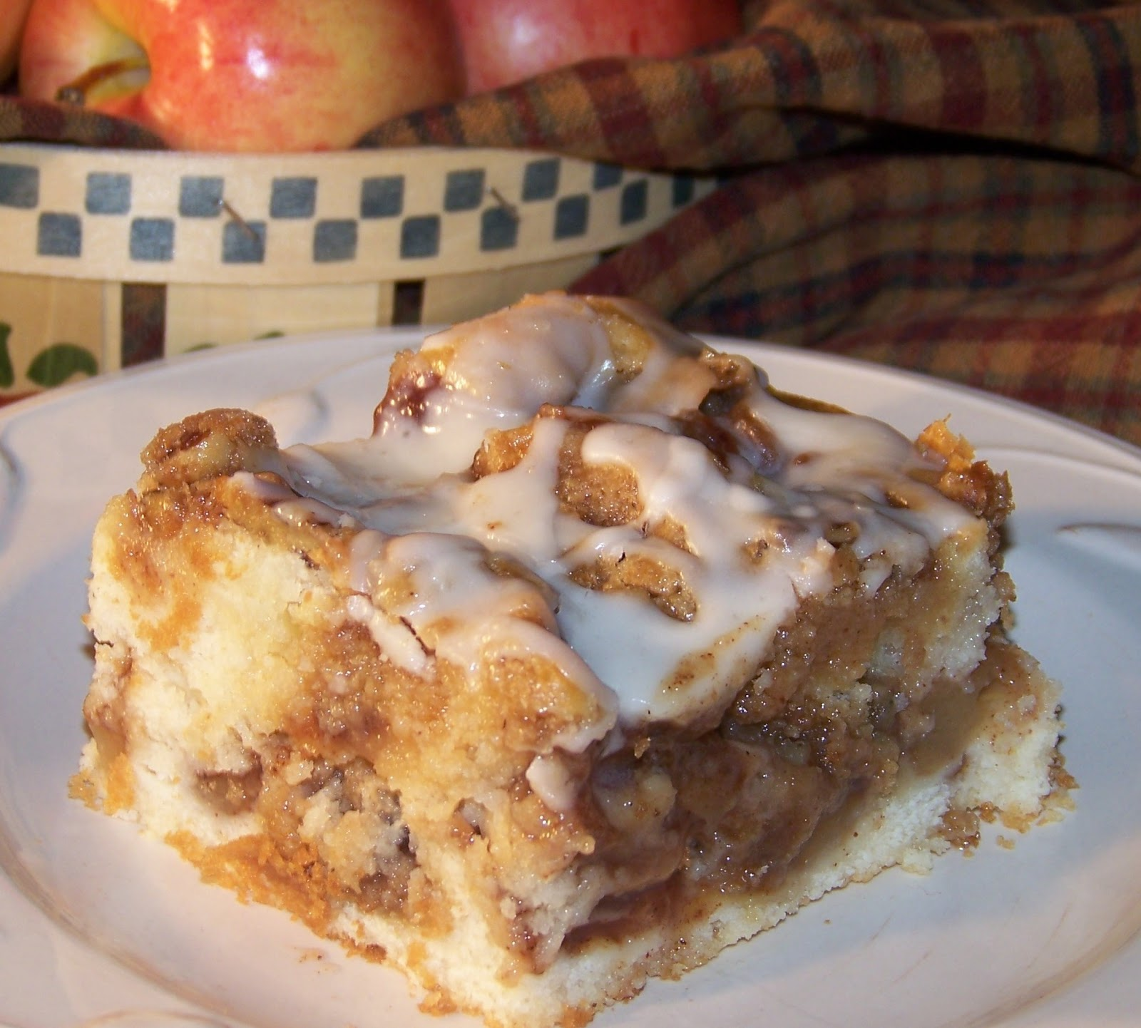 Apple Cake And Brown Sugar Glaze
