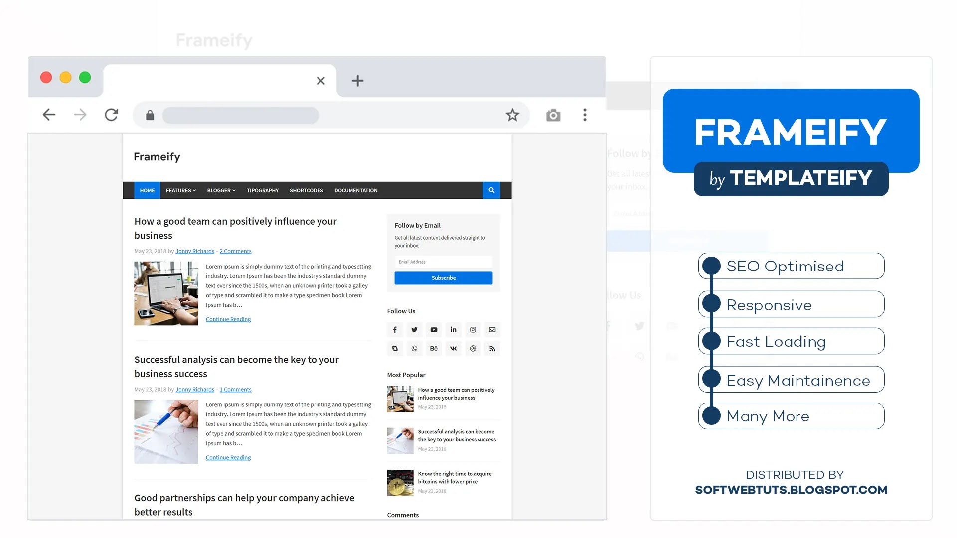 Frameify - Responsive Blogger Template