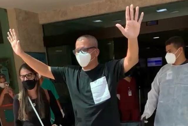 Após quase 2 meses internado, Geraldo Guimarães recebe alta