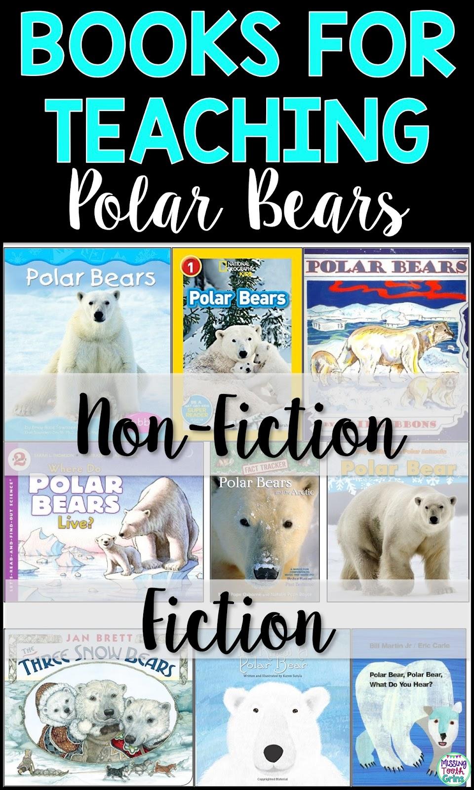 fiction books non polar bears writing teaching animals kindergarten arctic informative nonfiction students bear grade missing artic animal missingtoothgrins need
