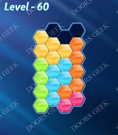Block! Hexa Puzzle [Rainbow A] Level 60 Solution, Cheats, Walkthrough for android, iphone, ipad, ipod
