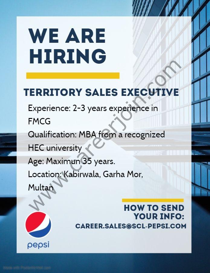career.sales@scl-pepsi.com - Pepsi Shamim and Co Jobs 2021 in Pakistan