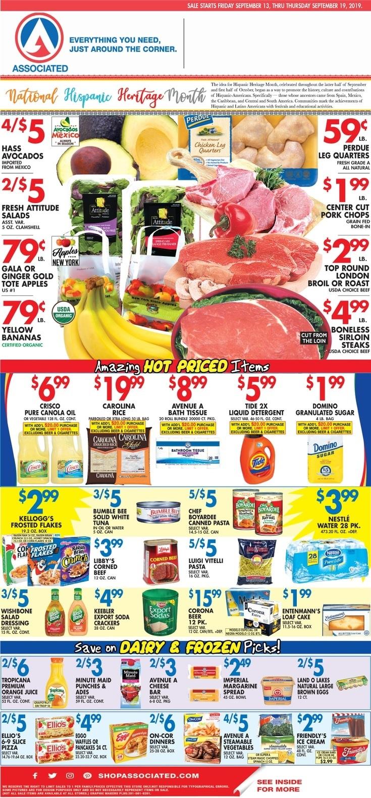 ⭐ Associated Supermarkets Circular 9/13/19