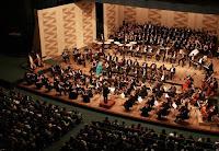 Orquestra Sinfônica do Teatro Nacional Cláudio Santoro, que se apresenta gratuitamente semanalmente