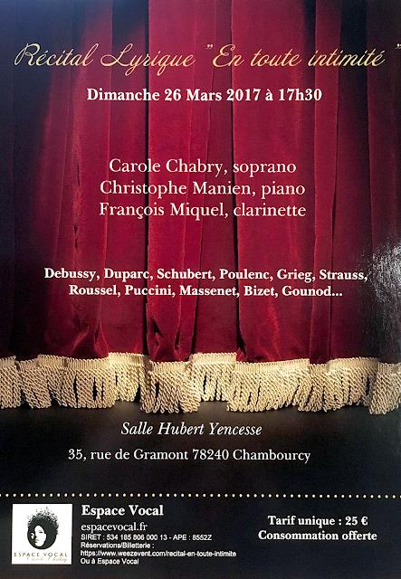 Recital Carole Chabry Chambourcy