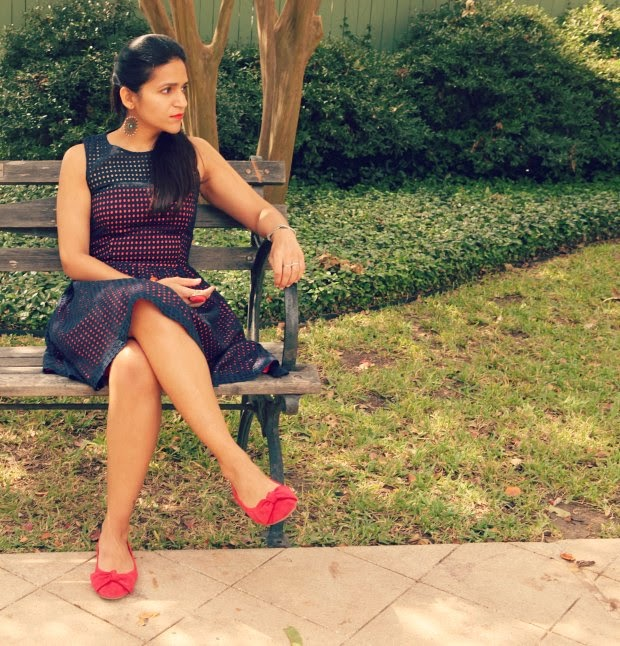 French Connection Dress, Sam Edelman Shoes, ONA Bag, ASOS Earrings, Tanvii.com