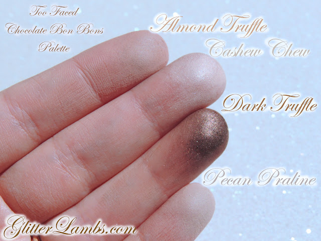 """Too Faced """"Chocolate Bon Bons Palette"""" Swatches by Glitter Lambs www.GlitterLambs.com Makeup Eyeshadow Review"""