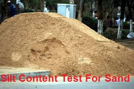 Silt Content Test For Sand