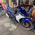 Mẫu sơn xe máy Exciter 150 màu xanh dương mâm đen chỉ đỏ