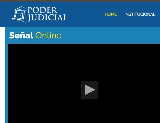 Señal online Poder Judicial