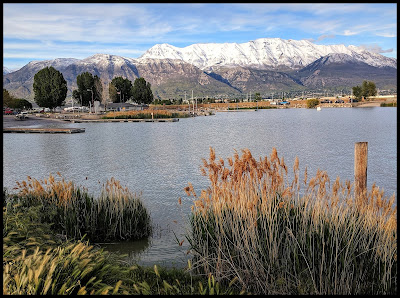 Utah Lake Looking towards Timpanogas Mountain