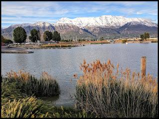 Utah Lake Looking towards Timpanogas Mountain