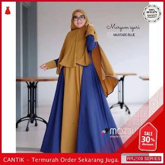 Jual RRJ109D104 Dress Muslim Moscrepe Wanita Syari Mareeyam Sy BMGShop