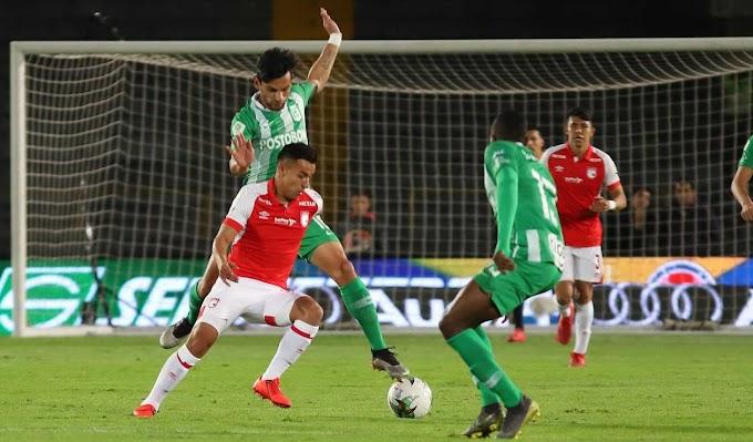 Santa fe Ganó, pero nacional clasificó a cuartos de final de la Copa Águila.